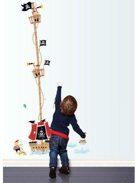 Muurstickers Kinderkamer Piraat.Muursticker Groeimeter Piraten Muurstickers Kinderkamer