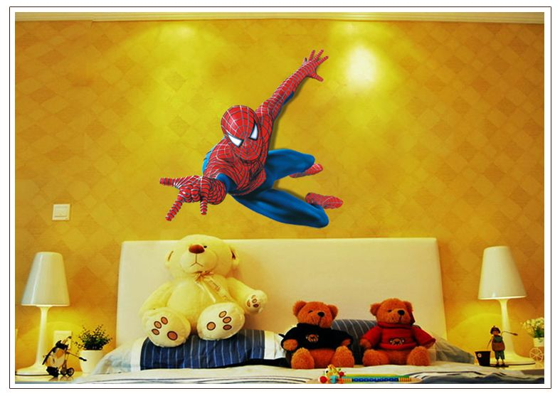 Muurstickers Kinderkamer Spiderman.Muursticker Spiderman Muurstickers Kinderkamer