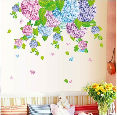 Muursticker Kleurrijke Bloemen