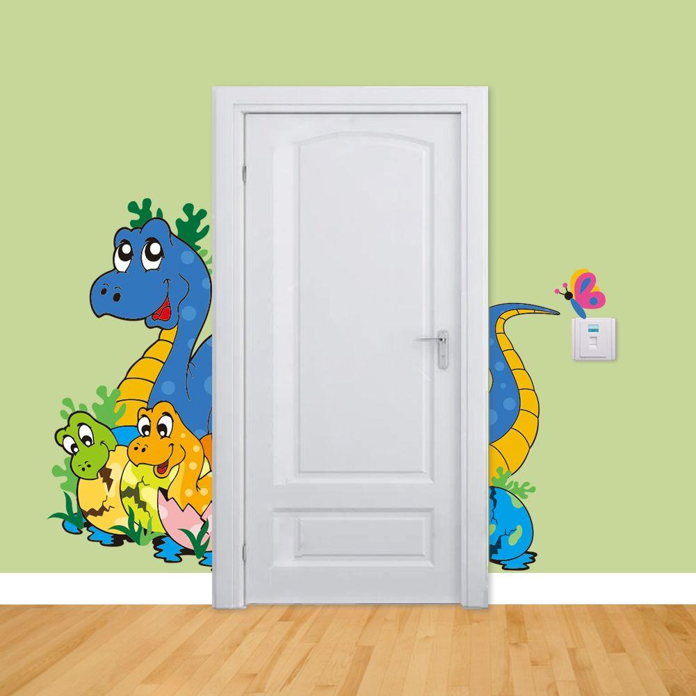 Muursticker Dino Familie